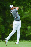 4th June 2021; Dublin, Ohio, USA; Chase Johnson (USA) watches his tee shot on 14 during the Memorial Tournament Rd2 at Muirfield Village Golf Club on June 4, 2021 in Dublin, Ohio.