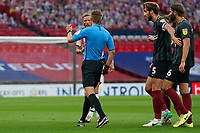 Dean Moxey of Exeter City is sent off during the Sky Bet League 2 PLAY-OFF Final match between Exeter City and Northampton Town at Wembley Stadium, London, England on 29 June 2020. Photo by Andy Rowland.