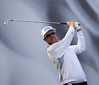 17.10.2014. The London Golf Club, Ash, England. The Volvo World Match Play Golf Championship.  Day 3 group stage matches.  Mikko Ilonen [FIN] tee shot eighth hole.