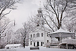 19th century church on the Town common in Ashby, MA, USA