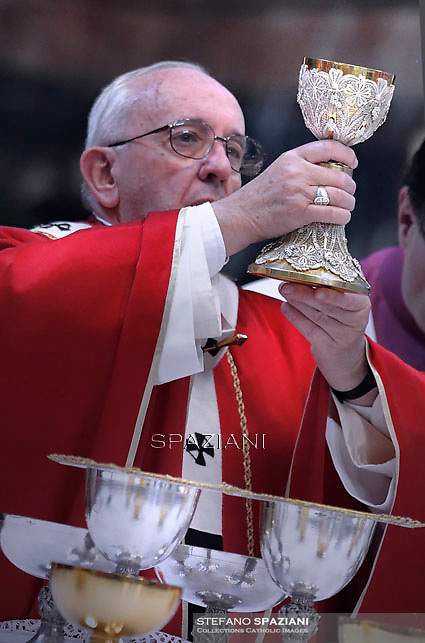 Pope Francis celebrates mass for decesed bishops and cardinals in St. Peter's Basilica at the Vatican.November 3, 2015