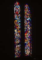 San Francisco, California, USA. Grace Cathedral (Episcopal). Stained Glass Windows.