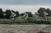Preben Van Hecke (BEL/Sport Vlaanderen Baloise) leading the chase in the peloton. <br /> <br /> <br /> 103th Kampioenschap van Vlaanderen 2018 (UCI 1.1)<br /> Koolskamp – Koolskamp (186km)