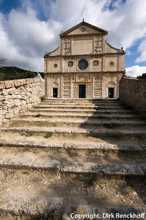 Italien, Umbrien, romanische Kirche San Pietro fuori le Mura in Spoleto, 13. Jh.