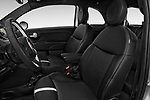 Front seat view of 2017 Fiat 500e Battery-Electric 5 Door Hatchback Front Seat  car photos