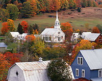 Fall scene in the Village of Waits River, VT
