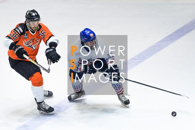 Hong Kong Tigers vs Flying French during the Mega Ice Hockey 5s match on May 02, 2018 in Hong Kong, Hong Kong. Photo by Marcio Rodrigo Machado / Power Sport Images