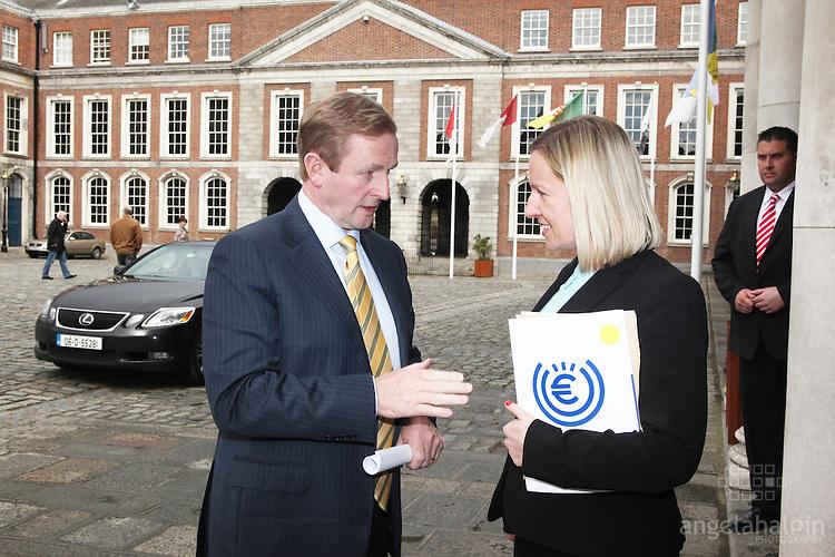 Enda Kenny & Lucinda Creighton at European Economic Forum - Dublin Castle - 19th & 20th April 2012