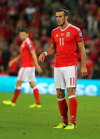 Gareth Bale of Wales in action during the FIFA World Cup Qualifier Group D match between Wales and Austria at The Cardiff City Stadium, Cardiff, Wales, UK. Saturday 02 September 2017