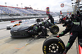 DARLINGTON, SOUTH CAROLINA - MAY 21: Riley Herbst, driver of the #18 Monster Energy Toyota, pits during the NASCAR Xfinity Series Toyota 200 at Darlington Raceway on May 21, 2020 in Darlington, South Carolina. (Photo by Chris Graythen/Getty Images)