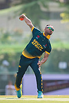 Aubrey Swanepoel of South Africa bowls during Day 1 of Hong Kong Cricket World Sixes 2017 Group A match between South Africa vs Pakistan at Kowloon Cricket Club on 28 October 2017, in Hong Kong, China. Photo by Yu Chun Christopher Wong / Power Sport Images