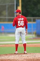 Philadelphia Phillies pitcher Robert Tasin (56) during an instructional league game against the Toronto Blue Jays on September 28, 2015 at Englebert Complex in Dunedin, Florida.  (Mike Janes/Four Seam Images)