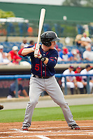 Blake Kelso #5 of the Hagerstown Suns at bat against the Rome Braves at State Mutual Stadium on May 1, 2011 in Rome, Georgia.   Photo by Brian Westerholt / Four Seam Images