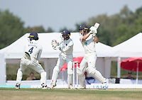 Joe Weatherley of Hampshire CCC cuts to point during Middlesex CCC vs Hampshire CCC, Bob Willis Trophy Cricket at Radlett Cricket Club on 11th August 2020