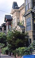San Francisco: Victorians. Laguna (?)  North of California St. Photo '78.