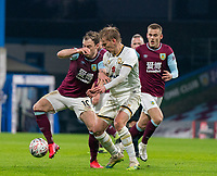 9th January 2021; Turf Moor, Burnley, Lanchashire, England; English FA Cup Football, Burnley versus Milton Keynes Dons; Ashley Barnes of Burnley tries to shield the ball