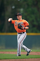 Baltimore Orioles Drew Turbin (73) during a minor league Spring Training intrasquad game on April 2, 2016 at Buck O'Neil Complex in Sarasota, Florida.  (Mike Janes/Four Seam Images)