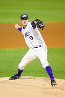 at BB&T Ballpark on April 20, 2013 in Winston-Salem, North Carolina.  The Dash defeated the Blue Rocks 5-0 in game two of a double-header.  (Brian Westerholt/Four Seam Images)