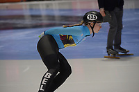 SPEEDSKATING: DORDRECHT: 05-03-2021, ISU World Short Track Speedskating Championships, Heats 1000m Ladies, Tineke den Dulk (BEL), ©photo Martin de Jong