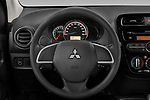 Car pictures of steering wheel view of a 2020 Mitsubishi Space-Star IN 5 Door Hatchback Steering Wheel