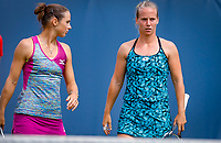 Den Bosch, Netherlands, 12 June, 2018, Tennis, Libema Open, Womans doubles: Bibiane Schoofs (NED) (L) and Richel Hogenkamp (NED)<br /> Photo: Henk Koster/tennisimages.com