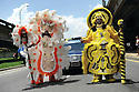 Mardi Gras Indians at Uncle Lionel Batiste jazz funeral, 2012