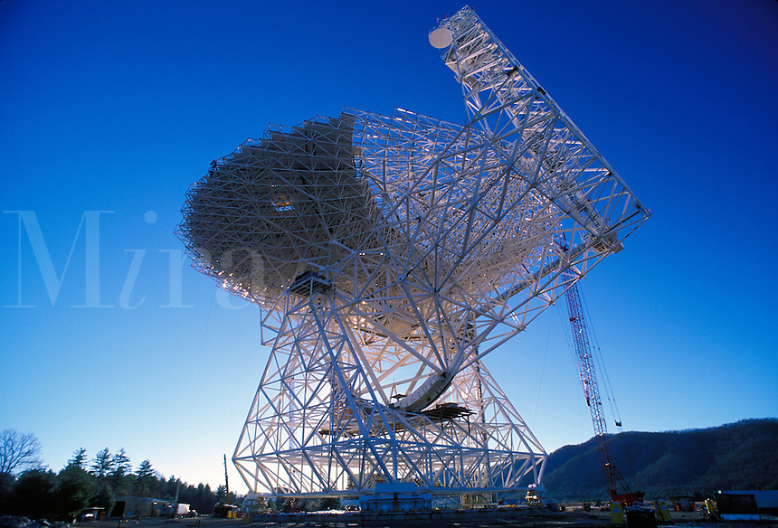 National Radio Observatory in West Virginia. Radio telescope.