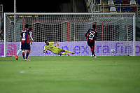 Simy of FC Crotone scores on penalty the goal of 1-0 during the Serie A football match between FC Crotone and Juventus FC at stadio Ezio Scida in Crotone (Italy), October 17th, 2020. Photo Federico Tardito / Insidefoto
