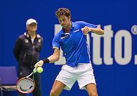 December 21, 2014, Rotterdam, Topsport Centrum, Lotto NK Tennis, Men's Final, Robin Haase (NED)<br /> Photo: Tennisimages/Henk Koster