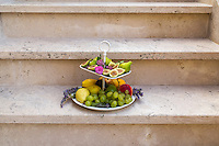 Series of pictures of fresh fruits taken outdoor with natural day light.