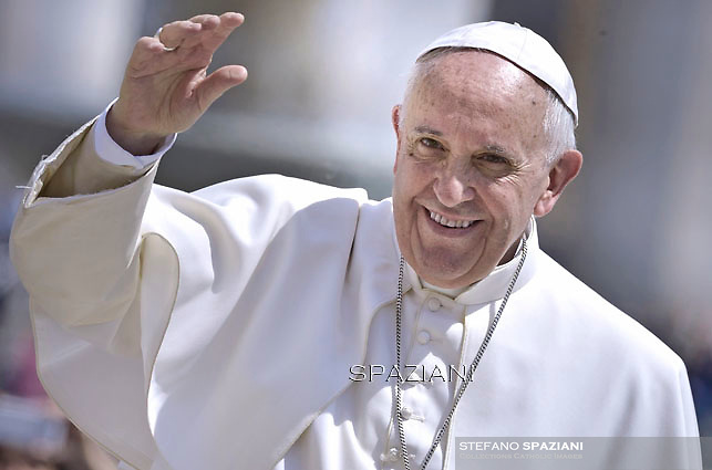 Pope Francis  during his weekly general audience in St. Peter square at the Vatican, Wednesday.6 May 2015