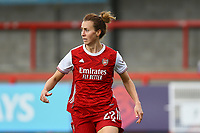 Viktoria Schnaderbeck of Arsenal during Brighton & Hove Albion Women vs Arsenal Women, Barclays FA Women's Super League Football at Broadfield Stadium on 11th October 2020