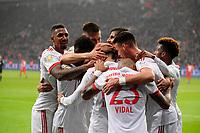 12.01.2018,  Football 1.Liga 2017/2018, 18. match day, Bayer Leverkusen - FC Bayern Muenchen, in BayArena Leverkusen.  BAyern and Jerome Boateng (FC Bayern Muenchen), David Alaba (FC Bayern Muenchen), Arturo Vidal (FC Bayern Muenchen), Sandro Wagner (FC Bayern Muenchen)  *** Local Caption *** © pixathlon<br /> <br /> +++ NED + SUI out !!! +++<br /> Contact: +49-40-22 63 02 60 , info@pixathlon.de
