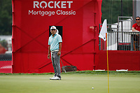 3rd July 2021, Detroit, MI, USA;  Sung Kang putts on the 9th hole on July 3, 2021 during the Rocket Mortgage Classic at the Detroit Golf Club in Detroit, Michigan.