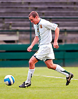 17 October 2007: The University of Vermont Catamounts' Justin Geibel, a Senior from Boxford, MA, in action against the University of Maryland Retrievers at Historic Centennial Field in Burlington, Vermont. The Catamounts and Retrievers battled to a scoreless, double-overtime tie...Mandatory Photo Credit: Ed Wolfstein Photo