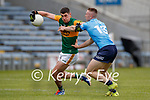 Paul Geaney, Kerry in action against Paddy Small, Dublin during the Allianz Football League Division 1 South between Kerry and Dublin at Semple Stadium, Thurles on Sunday.