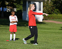 Becky Sauerbrunn. Michelle Obama hosted a Lets Move! soccer clinic held on the South Lawn of the White House assisted by members of the USWNT.  Let's Move! was started by Mrs. Obama as a way to promote a healthier lifestyle in children across the country.