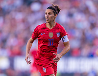 PHILADELPHIA, PA - AUGUST 29: Carli Lloyd #10 of the United States sprints during a game between Portugal and the USWNT at Lincoln Financial Field on August 29, 2019 in Philadelphia, PA.