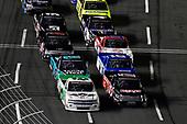 #45: Ross Chastain, Niece Motorsports, Chevrolet Silverado TruNorth/Paul Jr. Designs and #17: Tyler Ankrum, DGR-Crosley, Toyota Tundra May's Hawaii