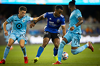 SAN JOSE, CA - AUGUST 17: Jeremy Ebobisse during a game between Minnesota United FC and San Jose Earthquakes at PayPal Park on August 17, 2021 in San Jose, California.