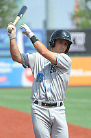 Hudson Valley Renegades infielder Jace Conrad (18) during game 2 of a double header against the Brooklyn Cyclones at MCU Park on July 8, 2014 in Brooklyn, NY.  Hudson Valley defeated Brooklyn 3-0.  (Tomasso DeRosa/Four Seam Images)