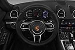 Car pictures of steering wheel view of a 2019 Porsche 718-Boxster - 2 Door Convertible Steering Wheel