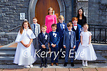 Pupils from Curranes NS after their First Holy Communion  in St Stephan and John church Castleisland on Saturday