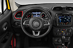 Car pictures of steering wheel view of a 2019 JEEP Renegade Trailhawk 5 Door SUV Steering Wheel