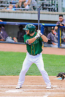 Beloit Snappers second baseman Nate Mondou (10) at bat during a Midwest League game against the Quad Cities River Bandits on June 18, 2017 at Pohlman Field in Beloit, Wisconsin.  Quad Cities defeated Beloit 5-3. (Brad Krause/Four Seam Images)