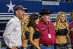 Actor, Dennis Quaid, poses for some pictures during the WinStar Casino and Resort Iron Cowboy bull riding event, at the AT & T stadium in Arlington, Texas.