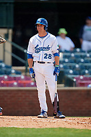 Lexington Legends left fielder Brewer Hicklen (28) at bat during a game against the Rome Braves on May 23, 2018 at Whitaker Bank Ballpark in Lexington, Kentucky.  Rome defeated Lexington 4-1.  (Mike Janes/Four Seam Images)