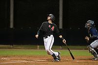 AZL Diamondbacks catcher Zachery Almond (49) at bat against the AZL Padres 2 on August 29, 2017 at Salt River Fields at Talking Stick in Scottsdale, Arizona. AZL Diamondbacks defeated the AZL Padres 2 4-3. (Zachary Lucy/Four Seam Images)