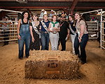Rabbit Fryer Champion Jacie Bell from the Fiddletown 4-H and the buyers from the Ione Bank of Miwok Indians, Sara Dutcheke and George Gurion along with Miss Amador and her court, 56th Junior Livestock Auction, Back in the Saddle Again, Sunday at the 82nd Amador County Fair, Plymouth, California<br /> .<br /> .<br /> .<br /> @AmadorCountyFair, #1SmallCountyFair, #VisitAmador, #PlymouthCalifornia, #AmadorCountyFair, #Best4DaysOfSummer, #AmadorCounty, #26thDAA