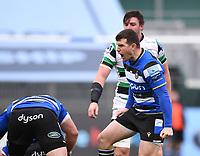 21st November 2020; Recreation Ground, Bath, Somerset, England; English Premiership Rugby, Bath versus Newcastle Falcons; Ben Spencer of Bath shouts at his team mates frustrated